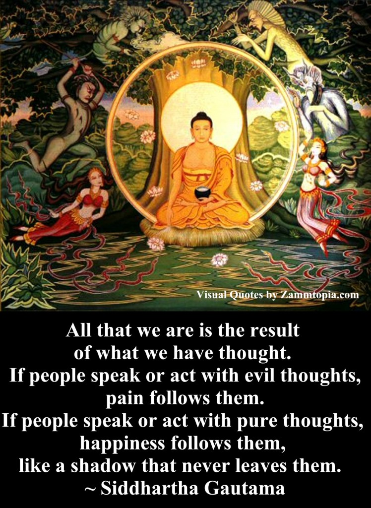 Siddharta Gautama on Thoughts, Zammtopia Visual Quotes